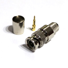 connector BNC male straight crimp for RG213 cable