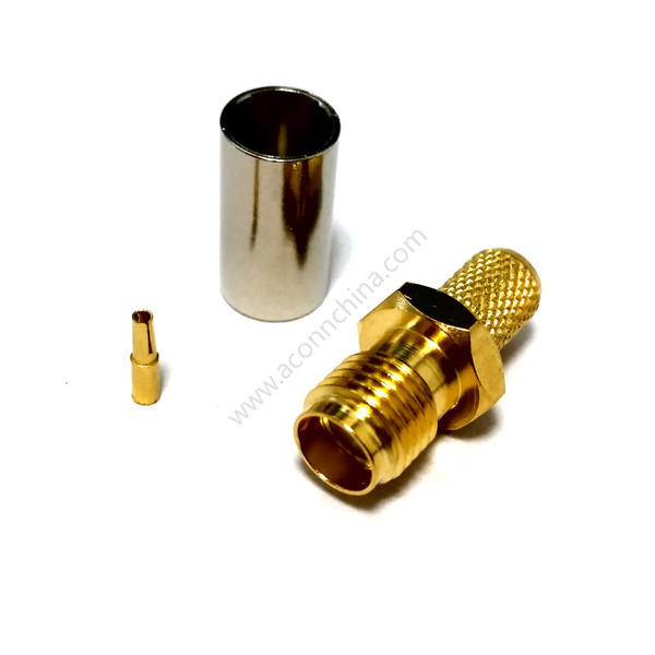 RF connector SMA female for RG58 cable