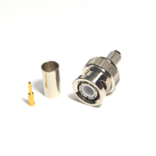 RF connector BNC male straight crimp for RG59 cable
