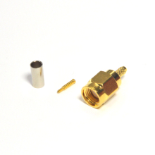 RF connector SMA male straight crimp for RG316 cable